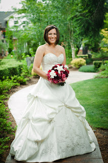 Sarah looks beautiful - Posted by Patricia Stimac, Seattle Wedding Officiant