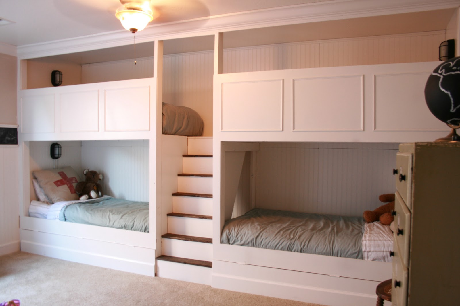 4 bunk beds with stairs - Bunk Beds