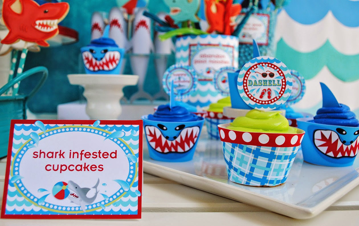 Shark Pool Party Ideas cheers to summer surfer style kids pool party ideas Gwynn Wasson Designs Wet N Wild Shark Pool Party