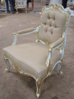 Mahogany French Painted Chair