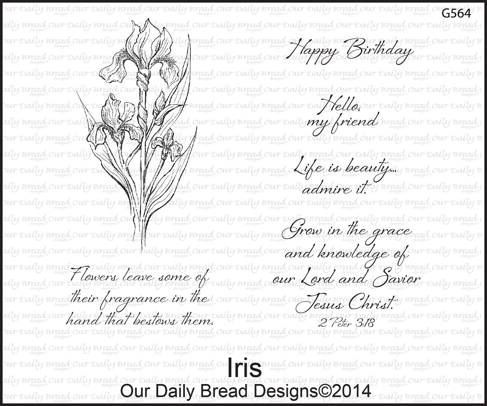 Stamps - Our Daily Bread Designs Iris