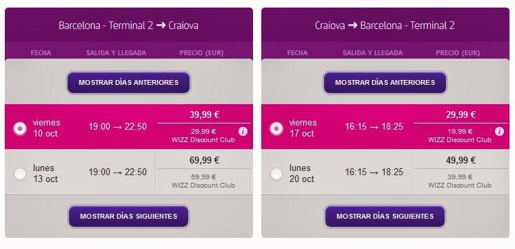 Oferta vuelo directo Barcelona Craiova