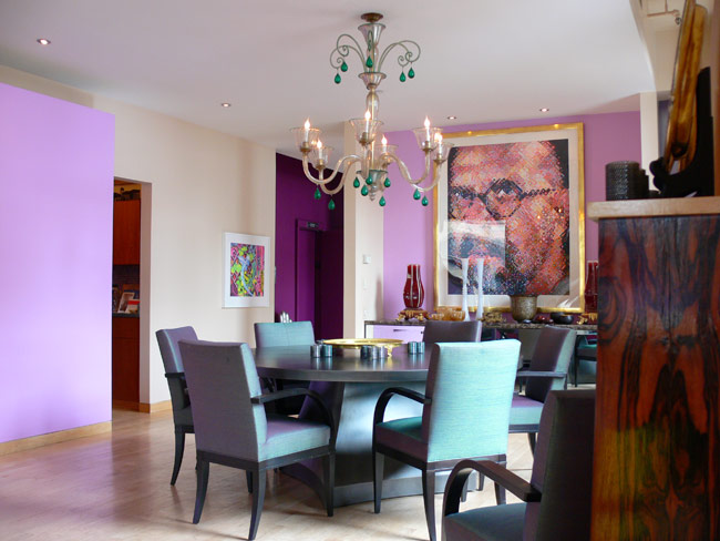 Purple interior designs dining room interior car led lights for Dining room ideas purple