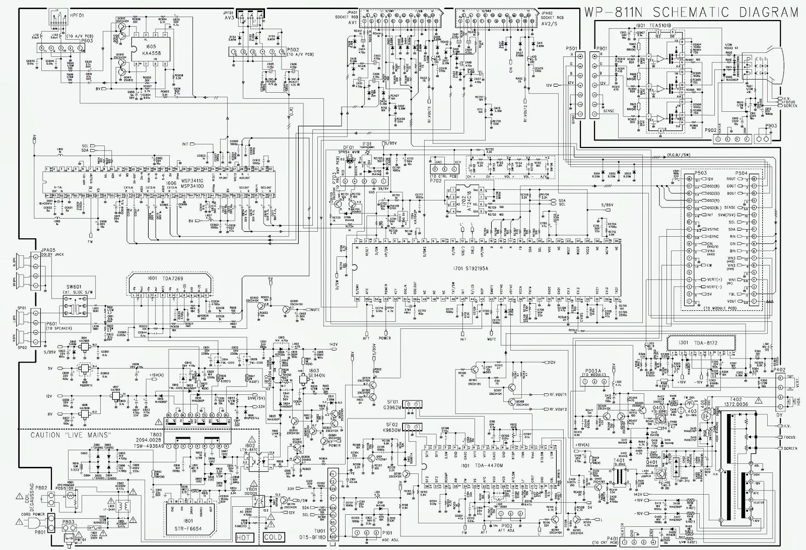 Daewoo 28 inch crt tv how to enter service mode circuit diagram schematic diagram ccuart Images