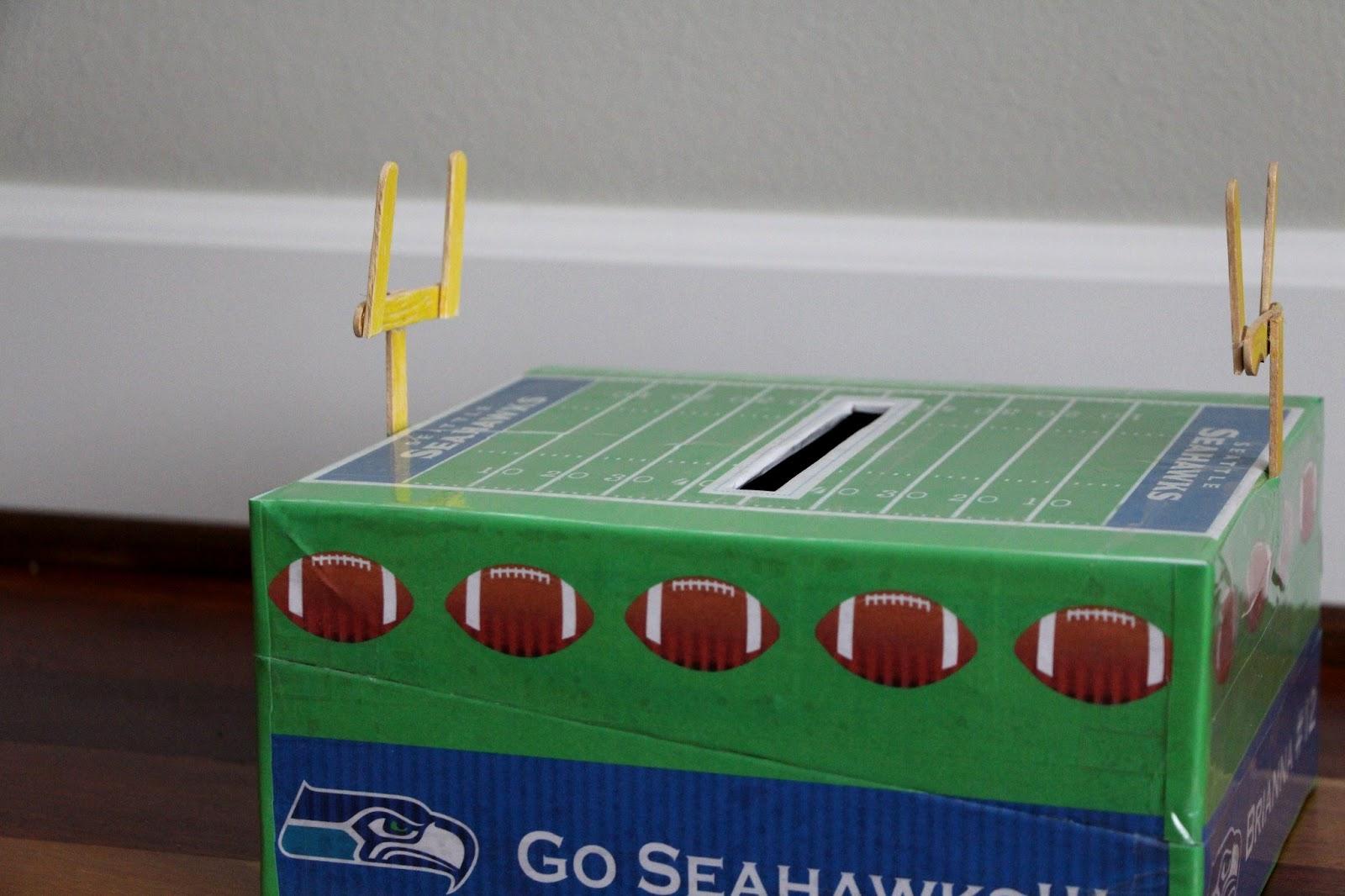 seahawks valentine box - Soccer Valentine Box