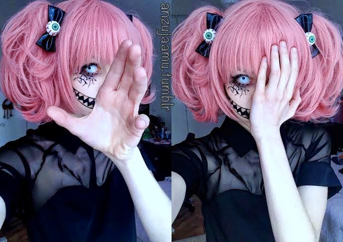 Creepy-Cute Makeup with Crazy White & Big Eye Lenses