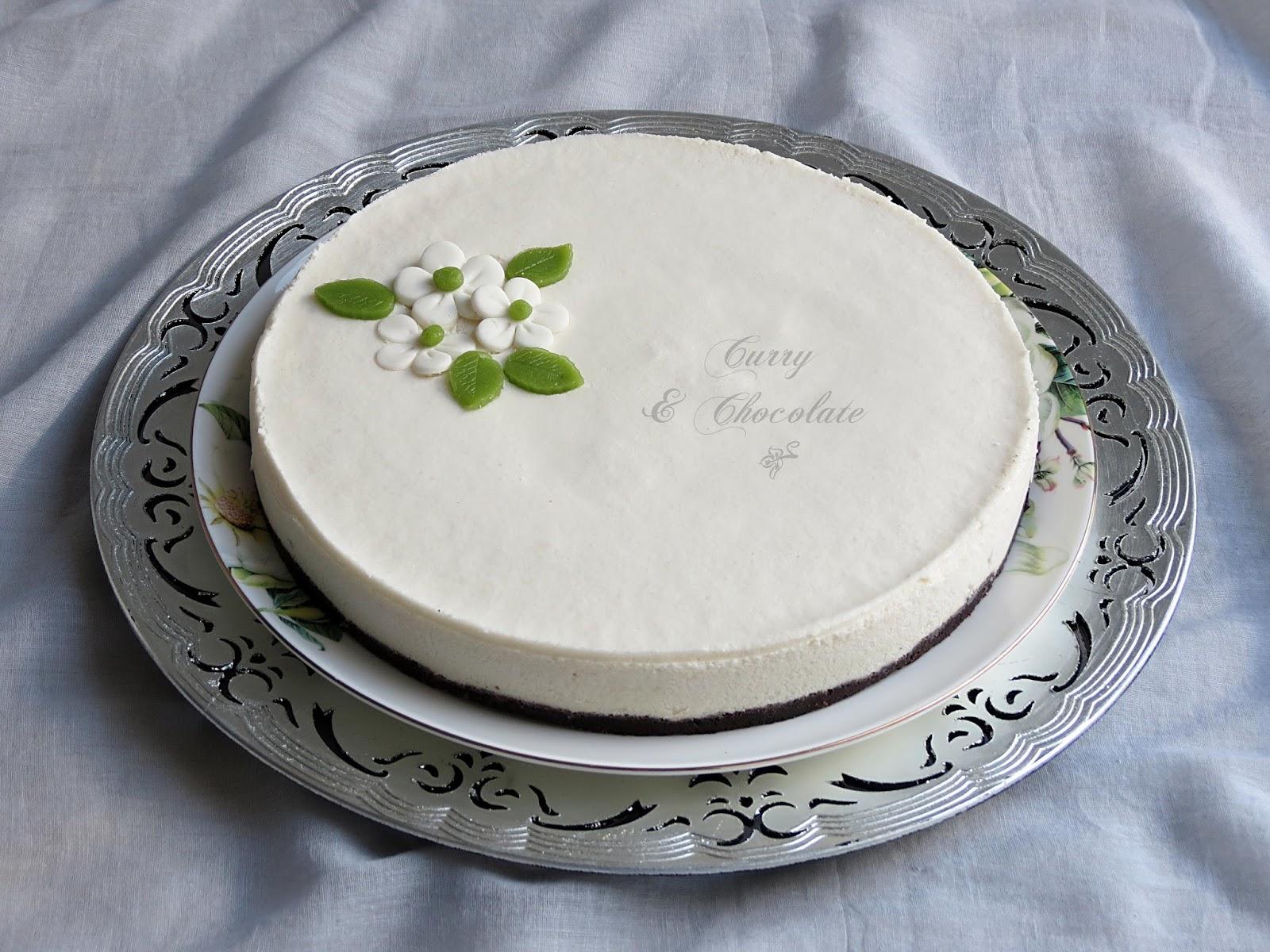 Tarta mousse de chocolate blanco y coco (sin horno