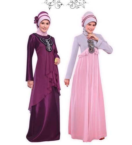 Selain mengenakan gaun pesta muslim anda juga dapat mengkreasikan