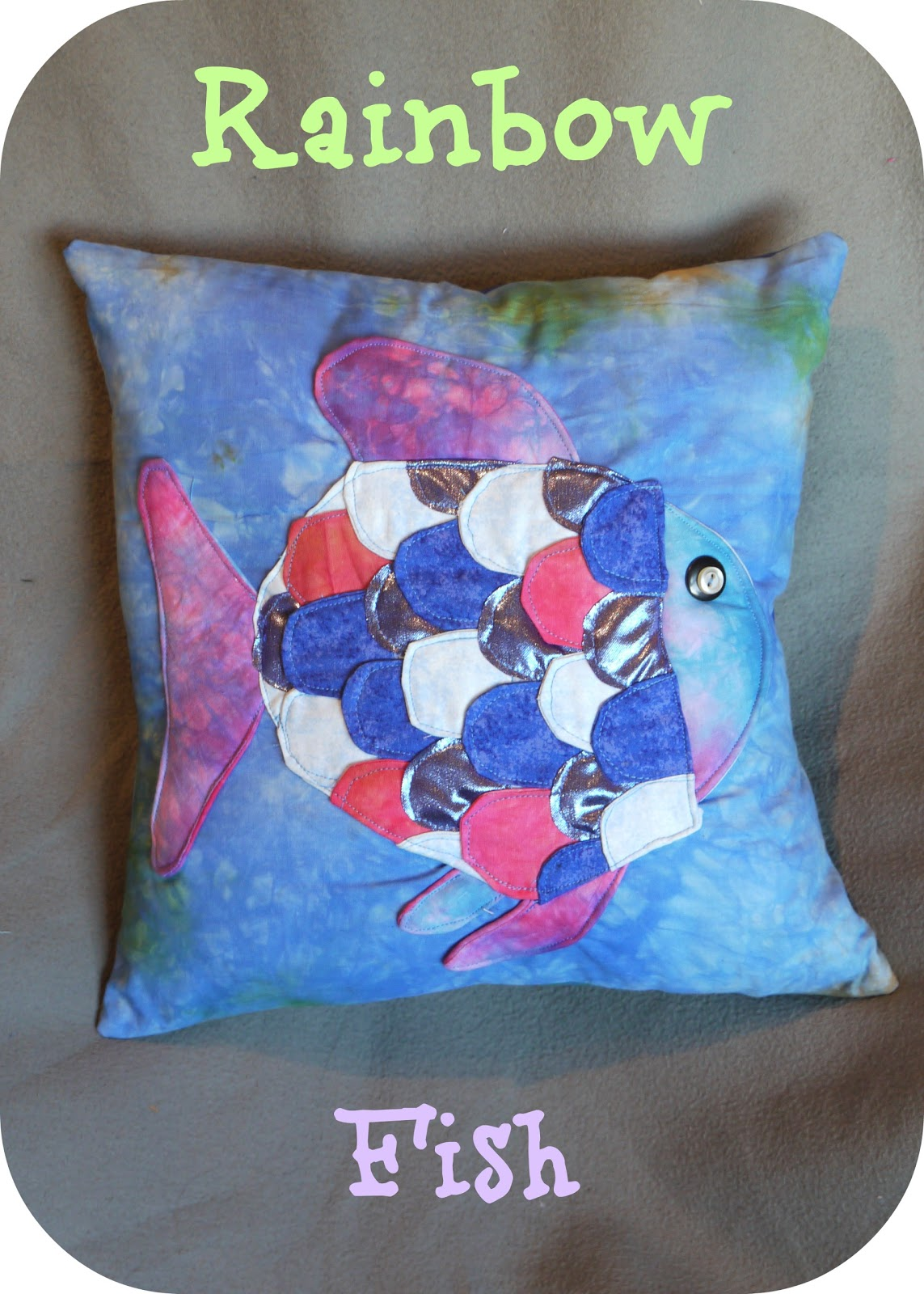 Heron 39 s crafts storybook craft project the rainbow fish for Rainbow fish craft