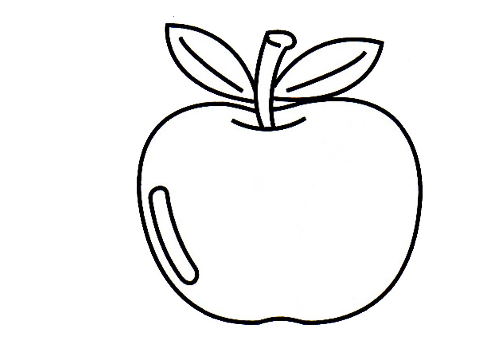 buah buahan colouring pages