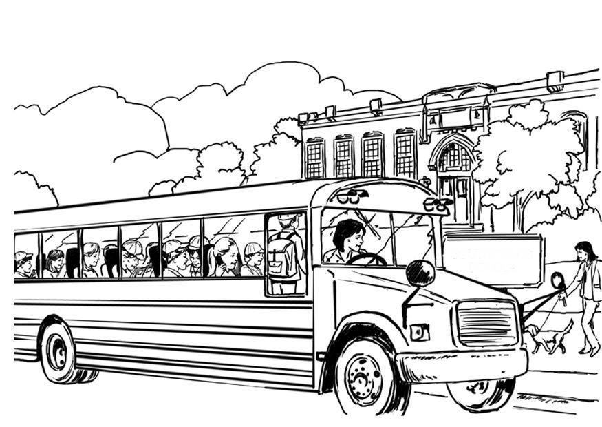 Niños llegando a la escuela para colorear - Imagui