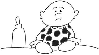 Colorear a bebe con su biberon