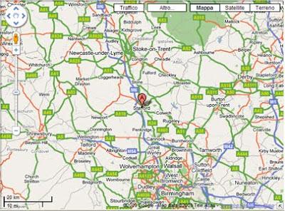 cartina Staffordshire