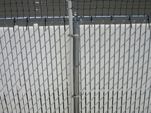 Cat fence made from pvc pipe june