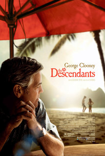 George Clooney Descendants movie poster 2011 based on novel by Kaui Hart Hemmings