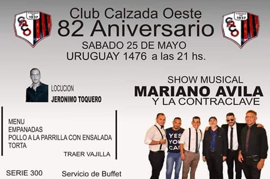 EVENTO DE MARIANO AVILA EL RUMBERO ROSARIO EN 25 DE MAYO