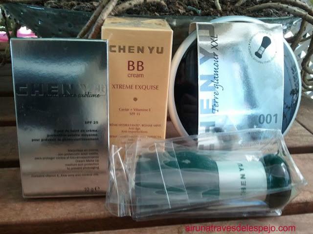 maquillaje chen yu bb cream compacto polvos