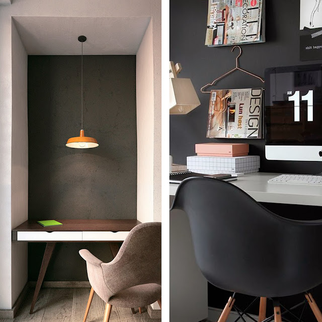 Dark grey walls - the Round Button