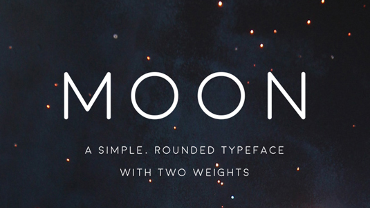 moon simple rounded font