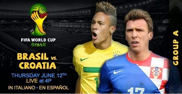 Prediksi Skor Brazil vs Kroasia Group A 13 Juni 2014