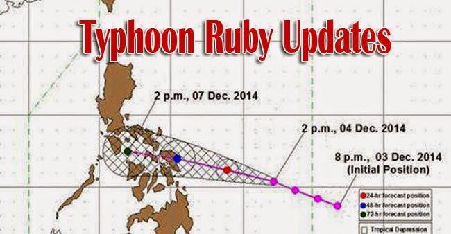 News about Typhoon Ruby Storm Signal on Affected Areas December 4 Updates