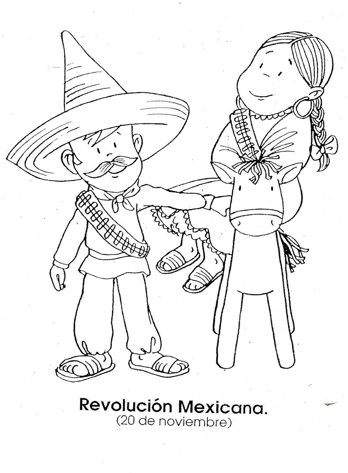 la revoluci u00f3n mexicana - dibujos para colorear