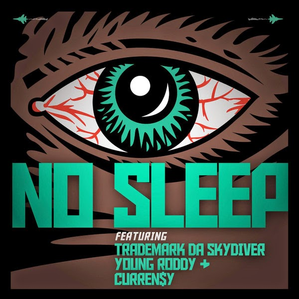 Jet Life - No Sleep (feat. Trademark Da Skydiver, Young Roddy & Curren$y) - Single Cover