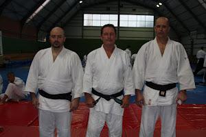 Belgrad-Iunie 2012:Shihan Christian Tissier, Sensei Dorin Marchis si Sensei Sorin Despa
