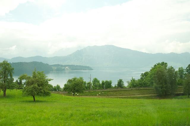 wisata, perjalanan dari zurich ke Lucerne, Eropa