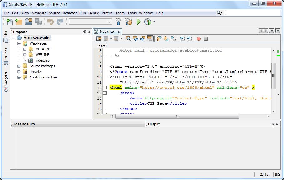 Tutoriales de Programacion Java: Struts 2 - Parte 5: Tipos de Results