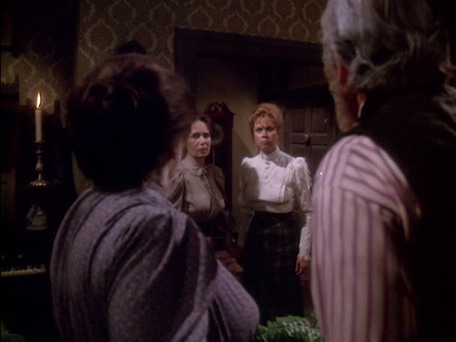 THE LEGEND OF LIZZIE BORDEN: Borden family feuding. Emma (Katherine Helmond) and Lizzie (Elizabeth Montgomery) versus stepmother and father