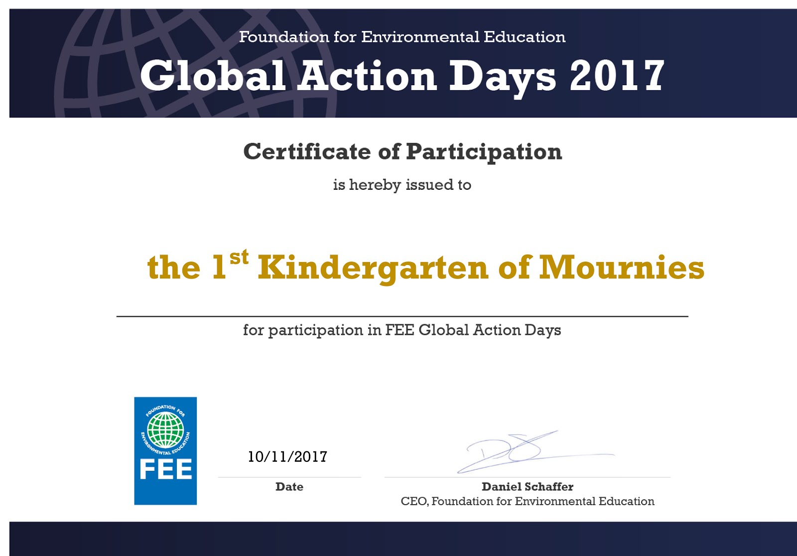 Global Action Days 2017-2018