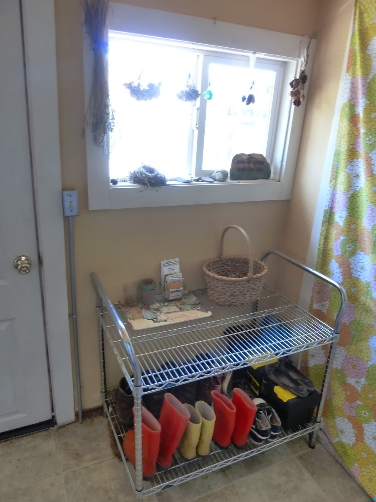 Urban Homestead Diaries: Mud Room Organization