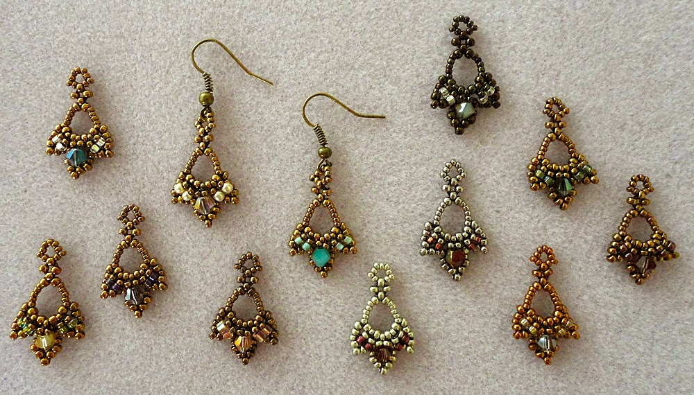 Linda\'s Crafty Inspirations: Pattern Review: Tiny Treasures Earrings