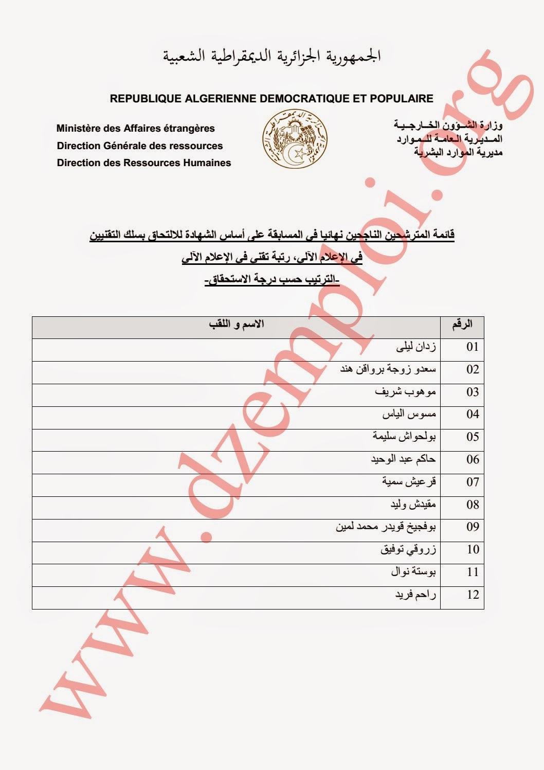 قائمة المترشحين الناجحين نهائيا في مسابقة وزارة الخارجية الخاصة برتب الأسلاك المشتركة 2014 6.jpg