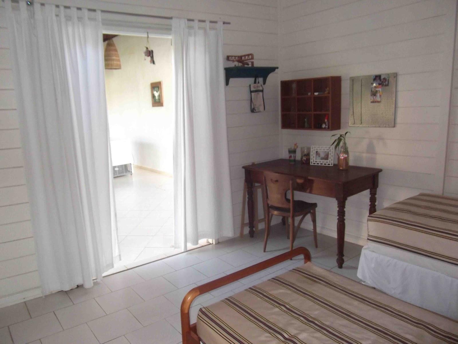 Eco House Casas E Chal S Temporada A 50m Da Praia Em Aracaju Se ~ Quarto De Casal Azul E Ar Condicionado Quarto