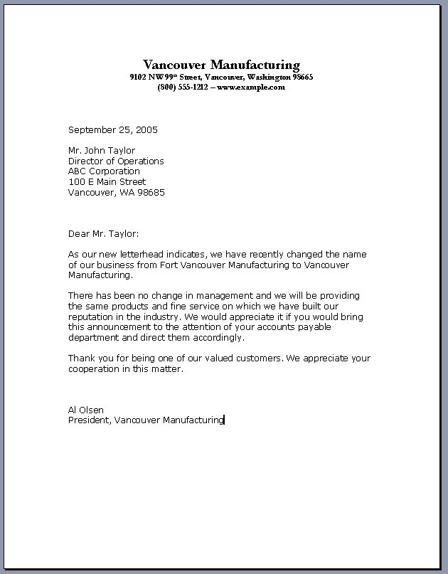 Professional letter template flashek Gallery