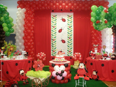 Decoración de Fiestas Infantiles de Mariquitas - Ladybug Party ...