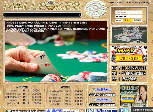 Daftar Poker Online uang Asli mallpoker.com