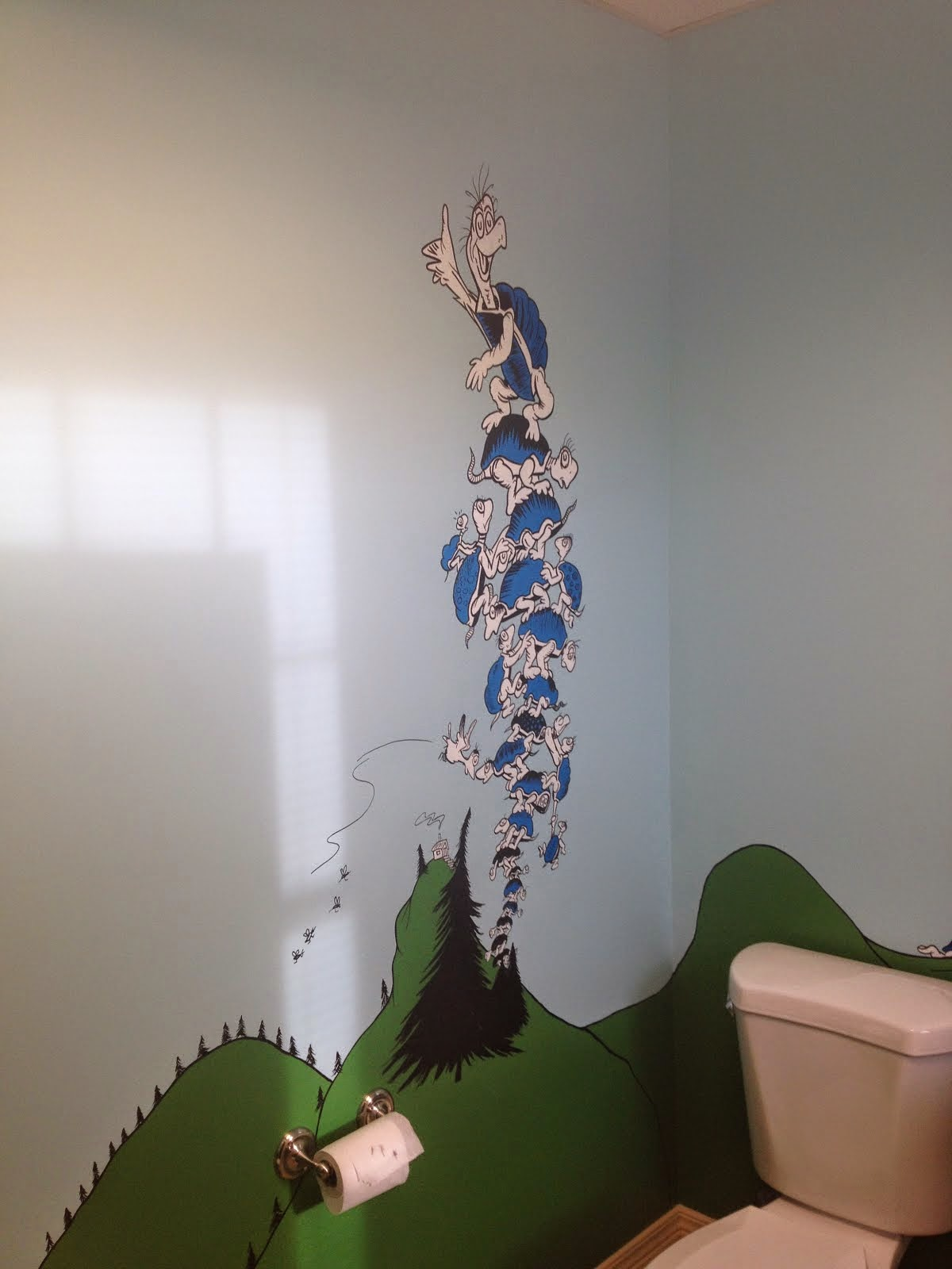 Little Links to Learning- Dr. Seuss themed bathrooms