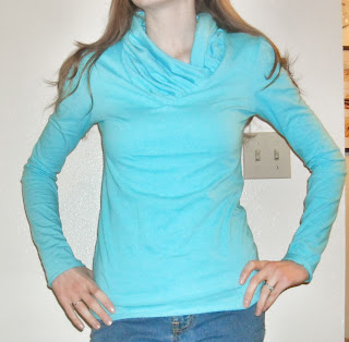 diy v neck to cowl neck shirt, cowl neck shirt tutorial, v neck shirt refashion, t-shirt refashion, cowl neck t-shirt