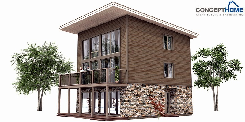 Ch99 small lot beach house plan beach house plans for Tiny beach house plans