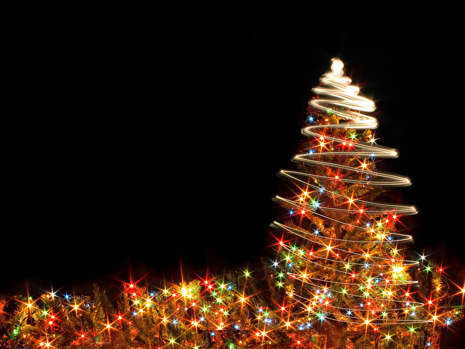 christmas light tree wallpaper