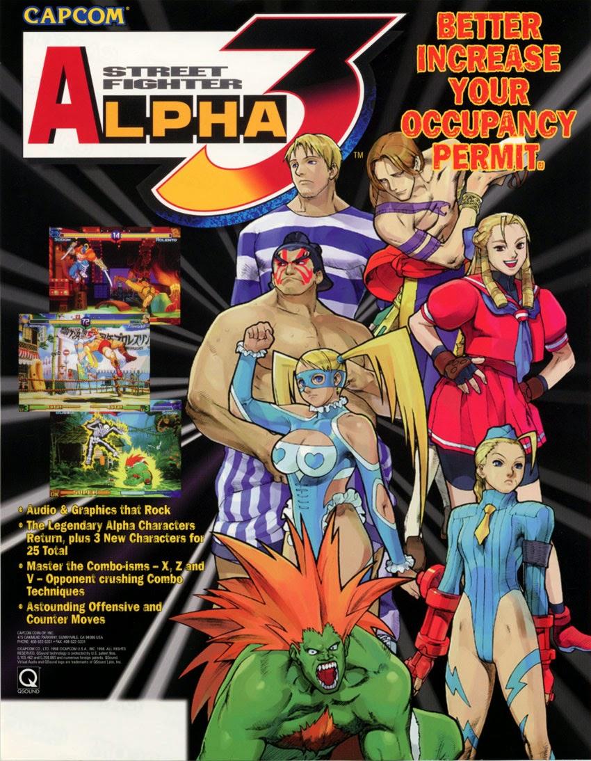 Street Fighter Alpha 3+arcade+game+portable+flyer+art
