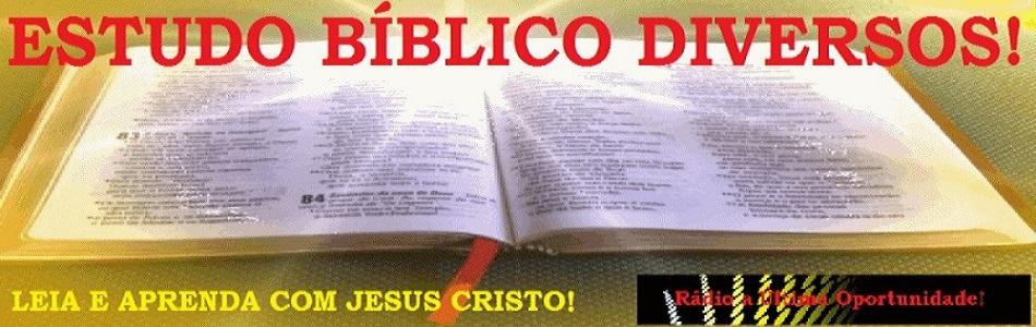ESTUDO BÍBLICO DIVERSOS