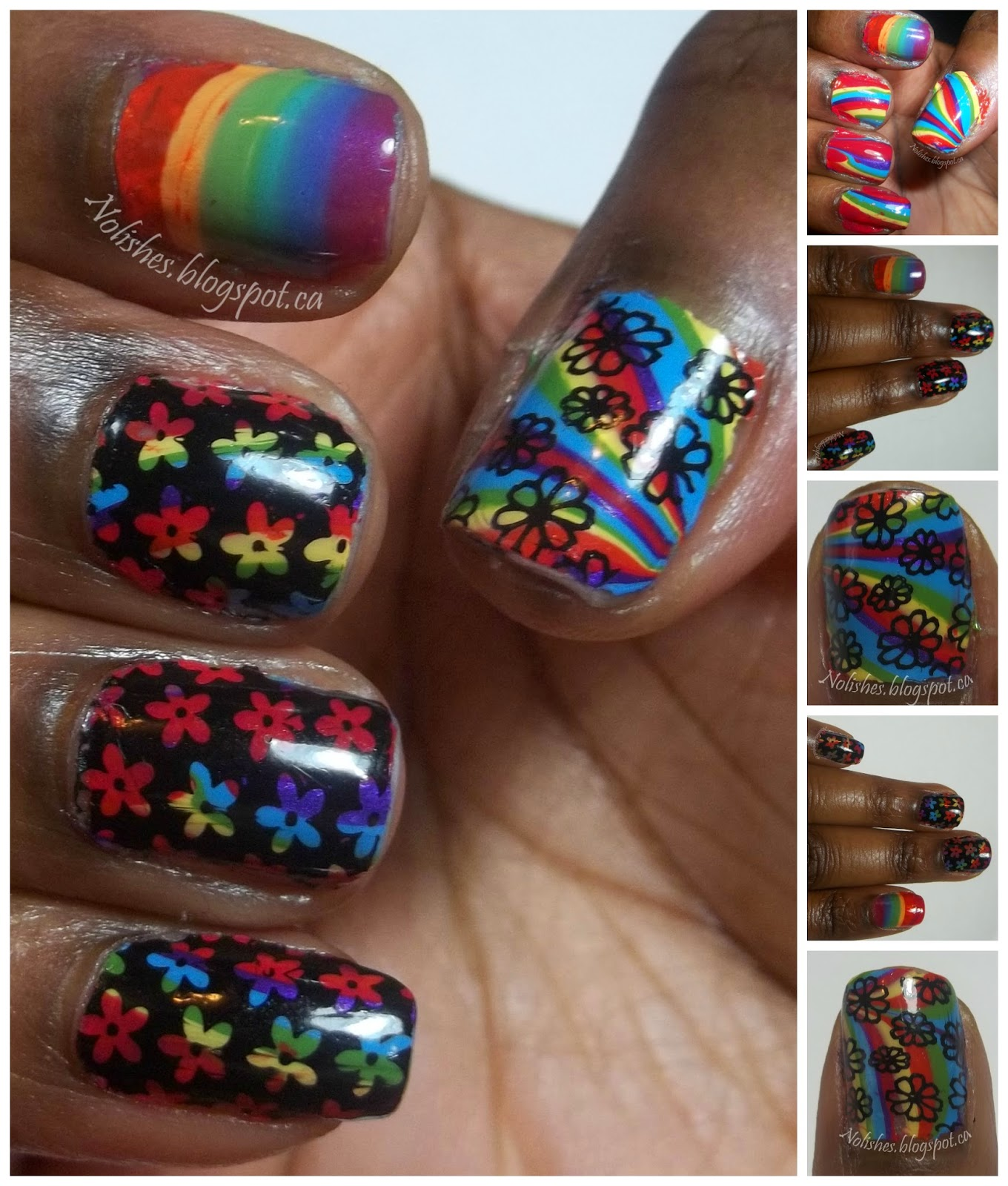 collage of additional photos of the manicure