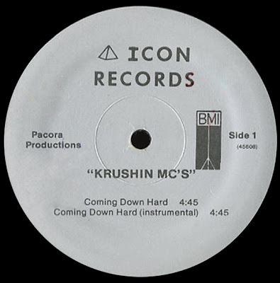 Krushin MC's ‎– Coming Down Hard (VLS) (1987) (320 kbps)