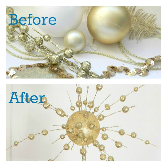 Art Deco Christmas Ornaments Decorations Tree Topper DIY Tutorial