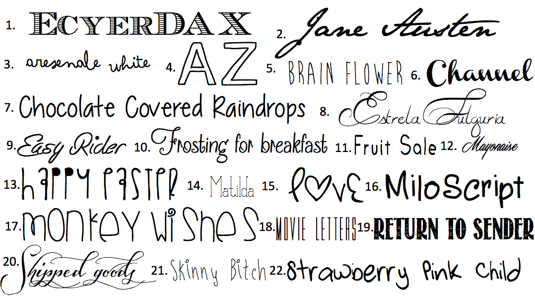 Am so obsessed with fonts lately and often spend my little work