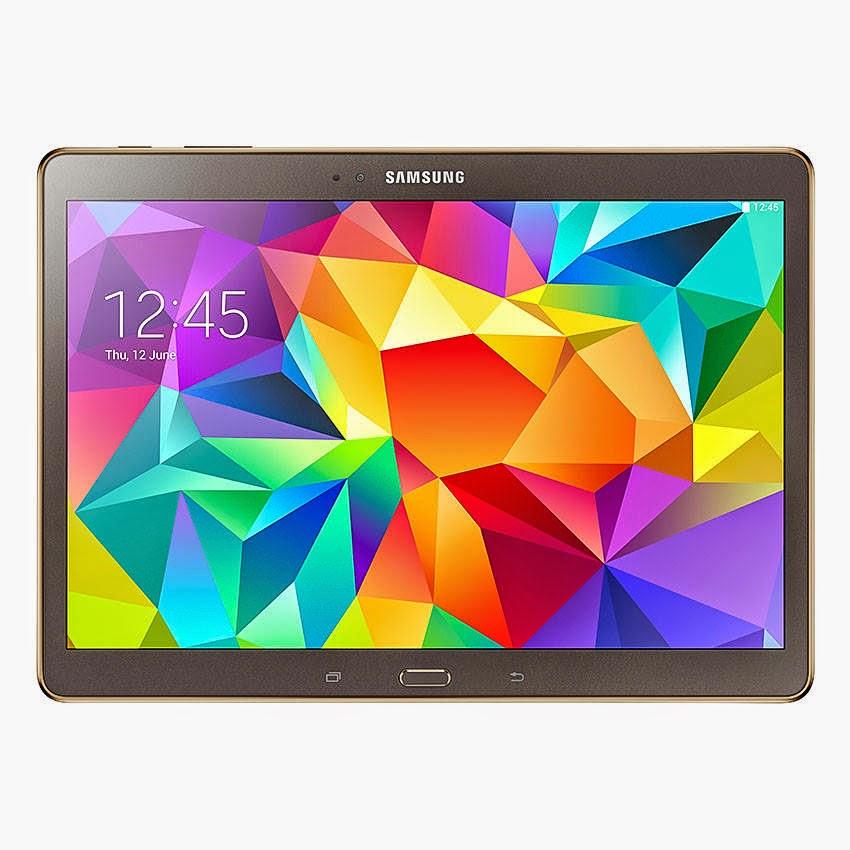"Harga Dan Spesifikasi Samsung Galaxy Tab S 10.5"" Titanium Bronze Terbaru, Dengan Wi-Fi Model 249g Dan LTE 298g"